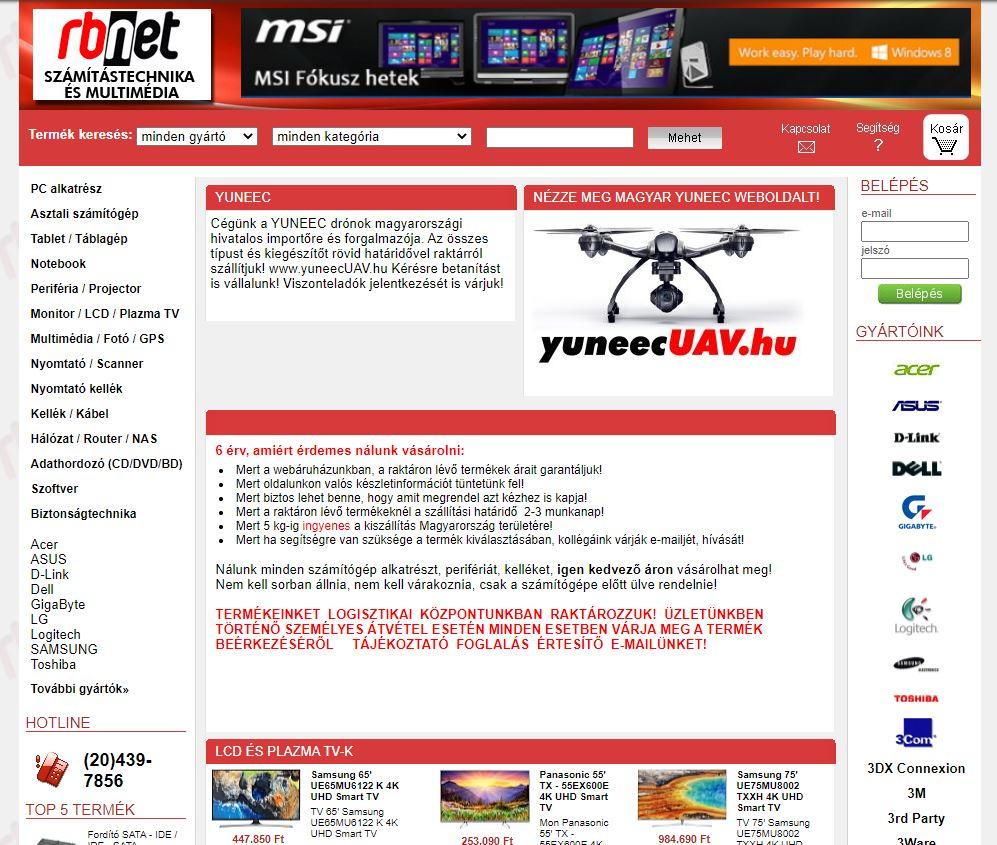 Weboldal és Webáruház készítés Referencia: RBNet.hu kft